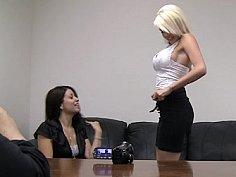 Threesome casting