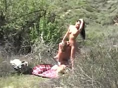 Young couple fucking in nature