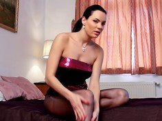 Black Beauty teases and finally rips her panythose