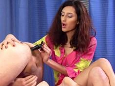 Sexy Latina drilling his asshole