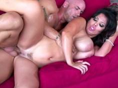 Sienna gets her MILF tits sprayed on