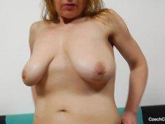 Susan Blondie plays plus plastic penis