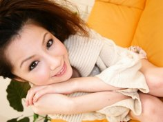 Rina Koizumi Lovely Asian model is getting her hairy pussy licked