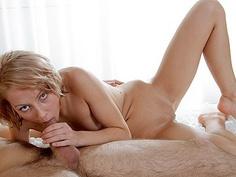 My hot girlfriend taking it deep in her slit