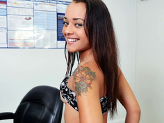 Shy and horny cutie Holly Hendrix shows us what she got