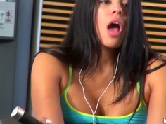 Hot and sexy Luna Star gets banged by her boyfriend, while i'm watching them