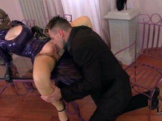 Latex Lucy can't recall being so exhausted during fucking
