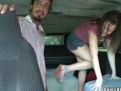 Sofia Ressen is taking a hot ride in a bus