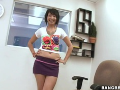 Beautiful and soft spoken Coco Velvett shows off her beautiful physique