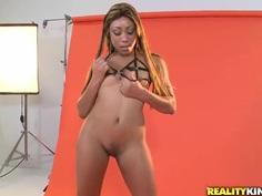 Tireless Brannon Rhodes and oiled Jayla Foxx
