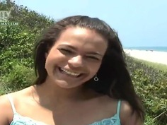 Pervert Josh is filming his sexy girlfriend on camera