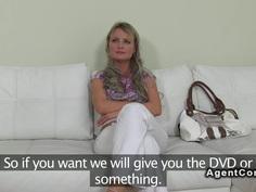 Blonde Czech amateur babe has hardcore casting