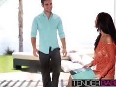 Whitney Westgate kissing and fucking her man under the sun