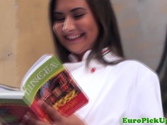 Euro amateur facialized after anal assfucking