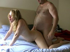 Picking up a busty Colombian blonde