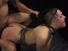 Madori enjoys intense rough sex while tied