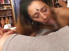 Hairy indian enjoying her friends big tasty cocks