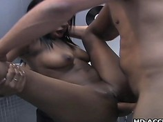 Sweet hot ebony with a big ass rides a dickSweet h