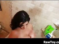 BBW Masturbating In The Shower