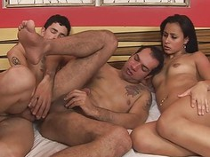 Become a witness of amazingly 3some bi act now