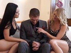 Katrina gives her lover a birthday threesome with Amanda