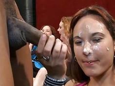 Lusty stripper is making the lustful hotties wild