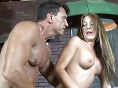 Pretty Brunette Laura Jeackson Takes a Cock