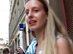 Pretty girl picked up on street and fucked in car