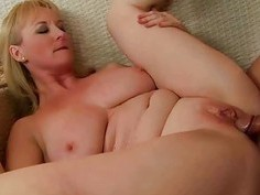 Busty grandma sucking huge cock and getting fucked