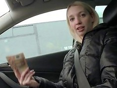 Czech girl Mina pussy pounded for money