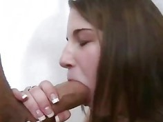 Sexy Brunette Teen Blowjob
