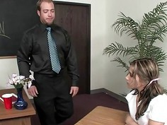 Dakoda Brookes punishes in the classroom