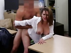 Hot Business chick sucking my cock and I fuck her