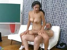 Older teacher fucks naughty playgirl senseless