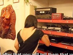 Horny amateur brunette Czech girl banged in her workplace