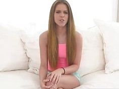 Skinny teen girl Stacey Levine nailed by massive hard cock