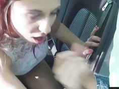 Sexy gf Antonia Sainz pounded by stranger dude in the car
