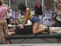 Pornstars asian massage made his dick hard and horny