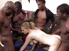 Allie James Gets Her Holes Stretched By Black Men