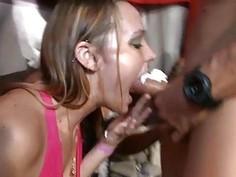 Nasty babes are having enjoyment sampling schlongs