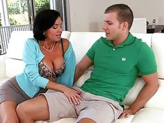 Busty stepmom Veronica Avluv teaches teen couple sex acts