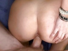 Alluring darling is sampling a hard dick hungrily
