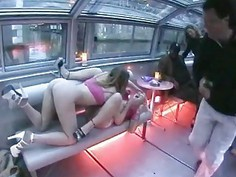 Naughty lesbians show on a boat