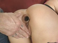Sweet Christy Mack licking and sucking huge hard dick