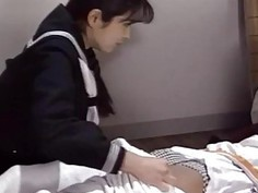 Eri Ueno gives blowjob before an intense fucking