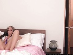 Blonde and horny Angela loves to lick Destiny hot pussy