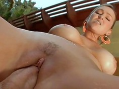 Older babe is moaning lustily as shes drilled