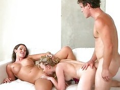 Cali Sparks threesome with Yasmin Scott and lucky
