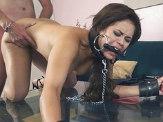 Sweet lovely Blair Summer sucking meaty hard pole