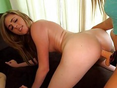 Carnal and delightful lesbo bang
